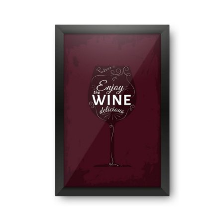 Quadro Porta Rolhas de Vinho Delicious Wine