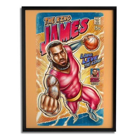Quadro Decorativo Lebron James By Renato Cunha - Beek