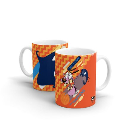 Caneca Cartoon Network POP Coragem o Cão Covarde - Creepy Stuff