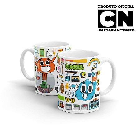 Caneca Cartoon Network O incrível Mundo de Gumball Elementos - Beek