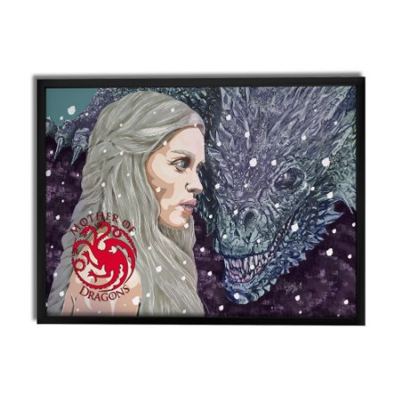 Quadro Decorativo Mãe dos Dragões By Roger Araujo - Beek