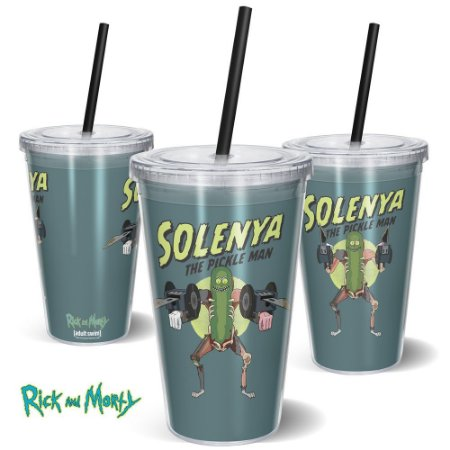 Copo Canudo 600ml Solenya RICK AND MORTY Oficial - Beek