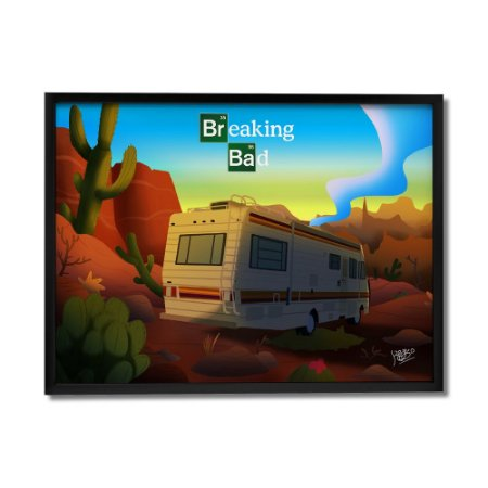 Quadro Decorativo Breaking Bad Deserto By Keyzo Araujo - Beek