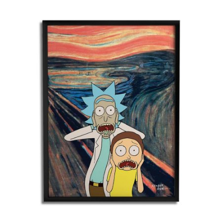 Quadro Decorativo Rick And Morty Scream By Baal's - Beek