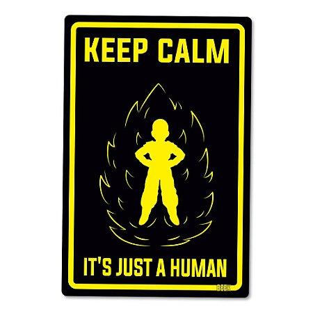 Placa Decorativa 24x16 Just a human - Beek