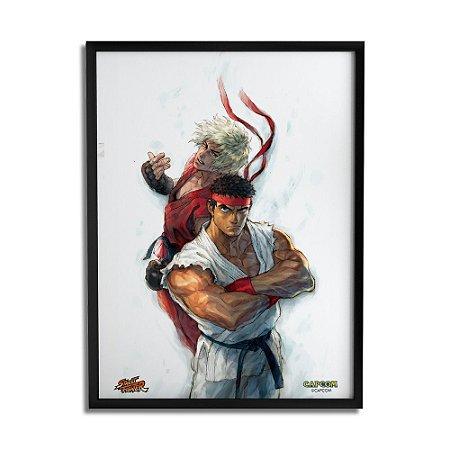 Quadro Decorativo Street Fighter Ryu e Ken - Beek