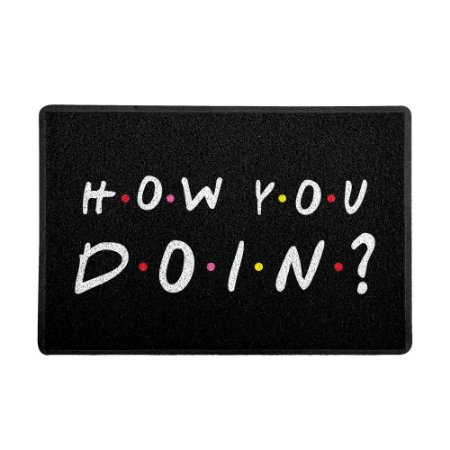 Capacho 60x40cm How you doin PRETO - Beek