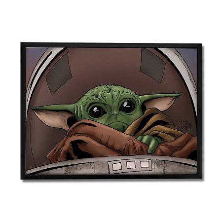 Quadro Decorativo Baby Yoda By Baal's - Beek