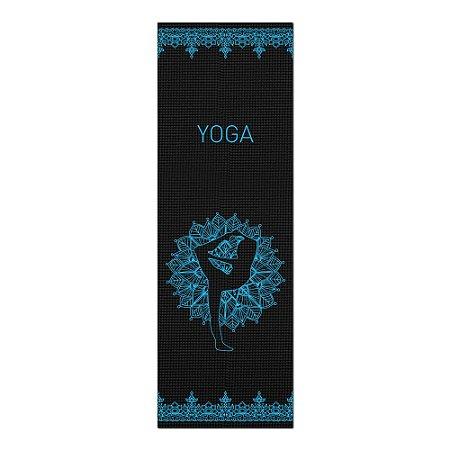 Tapete De Yoga / Ioga Com 1,80x0,60m Preto - DANÇARINO