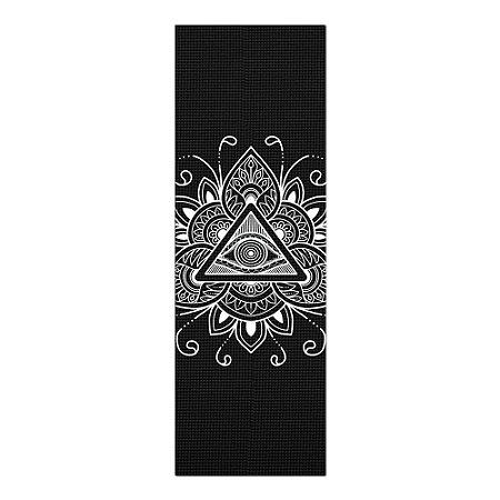 Tapete De Yoga / Ioga Com 1,80x0,60m Preto - MANDALA