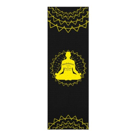 Tapete De Yoga / Ioga Com 1,80x0,60m Preto - PADMASANA