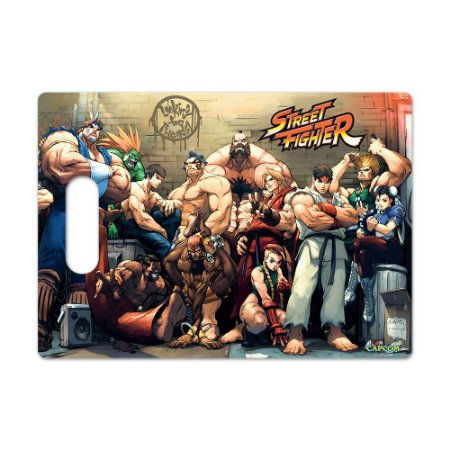 Tábua de Carne de Vidro 35x25cm Street Fighter Personagens - Beek