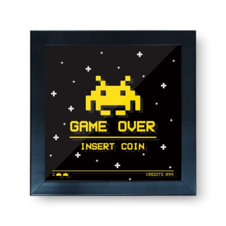 Quadro Cofre 3D Game Over - Beek