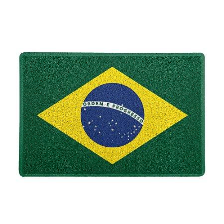 Capacho 60x40cm Bandeira do Brasil - Beek