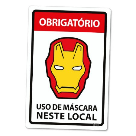 Placa Decorativa 24x16 Use Máscara Armadura - Beek