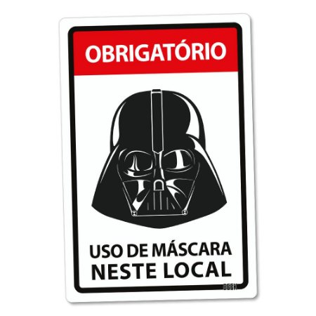 Placa Decorativa 24x16 Use Máscara Lorde Negro - Beek