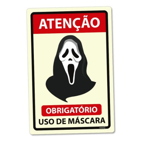 Placa Decorativa 24x16 Use Máscara Panico - Beek