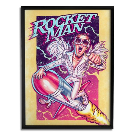 Quadro Decorativo Rocket Man By Renato Cunha - Beek
