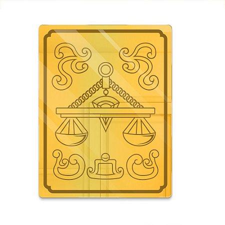 Espelho Decorativo feito em Acrílico Espelhado Dourado 3mm (38x50cm) - Armadura Libra