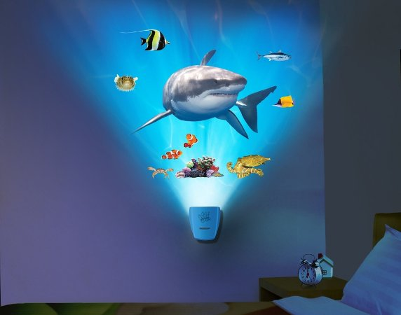 Luminária Uncle Milton Tubarão Wild Walls