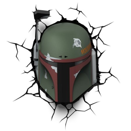 Luminária 3D Light FX Star Wars Boba Fett - MOSTRUARIO
