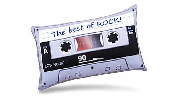 Almofada Retrô Fita Cassete - The Best Of Rock