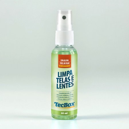Limpa Telas e Lentes TecBox + Flanelas Limpeza