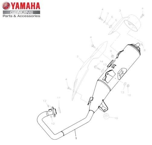 Escapamento Completo Yamaha YS Fazer 150 2014 Original