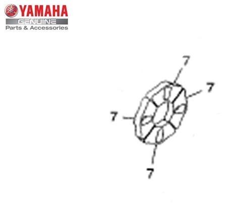 Jogo de Amortizadores do Cubo da Roda Yamaha YS Fazer 150 Original Yamaha ( Cod. 1STF536400 ) - 04un coxins