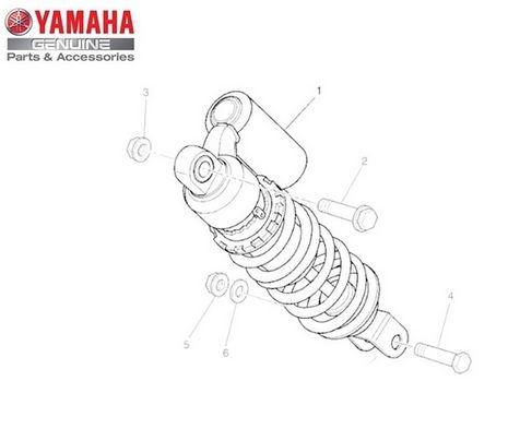 Amortecedor Traseiro Conjunto para Yamaha XT 660 Z Ténéré Original