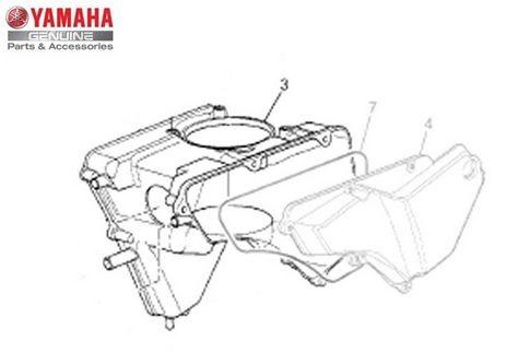 Caixa do Filtro de Ar 1 Ténéré XT 660z Original Yamaha