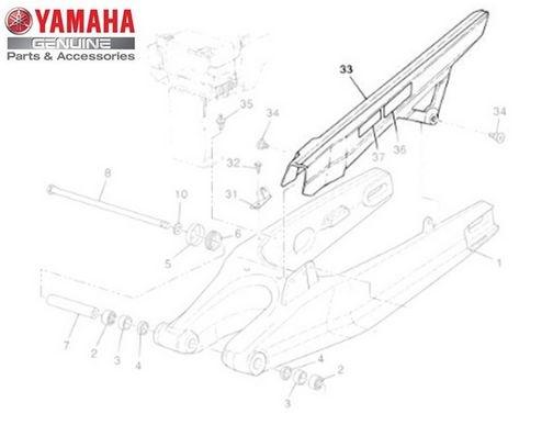 Capa da Corrente do Garfo Traseiro para Yamaha XT 660 Z Ténéré 2012 Original.