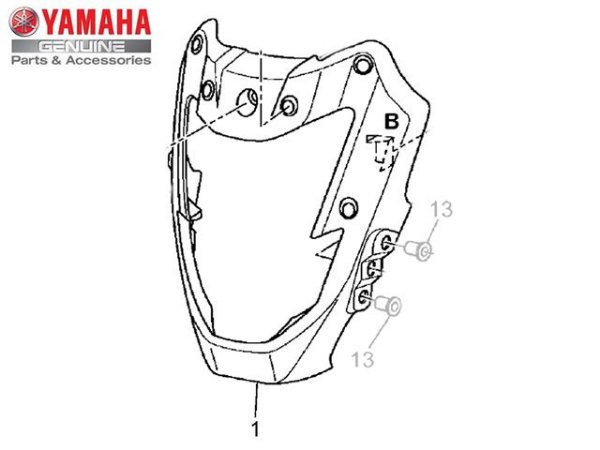 CARENAGEM DO FAROL DA XT 660 Z TÉNÉRÉ 2012/14 ORIGINAL YAMAHA