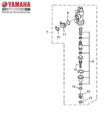 Cilindro Mestre Traseiro Ténéré XT 660 Z Original Yamaha