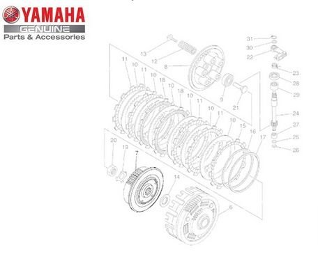 Cubo da Embreagem para Yamaha XT 660 Z Ténéré XT-660R Original