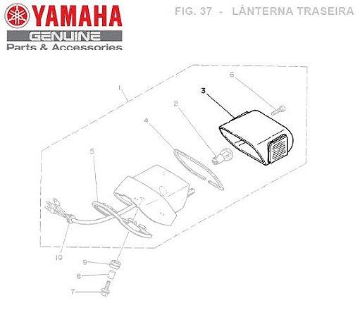 LENTE DA LANTERNA TRASEIRA PATA XV250 VIRAGO ORIGINAL YAMAHA