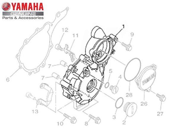 TAMPA ESQUERDA DO MOTOR PARA XTZ250 LANDER ORIGINAL YAMAHA