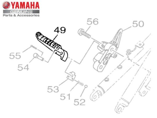 ESTRIBO TRASEIRO DIREITO PARA MT-09 E MT-09 TRACER ORIGINAL YAMAHA