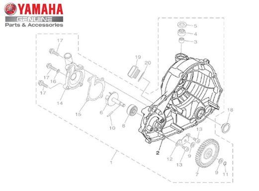 TAMPA DO MOTOR LADO DIREITO MT-03 ORIGINAL YAMAHA