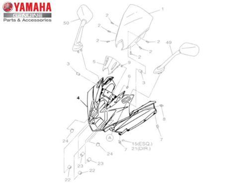 CARENAGEM FRONTAL SUPERIOR XJ6-F ORIGINAL YAMAHA