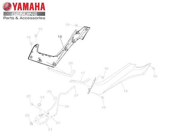 TAMPA LATERAL DA COLUNA DIREITA  N-MAX 160 2017 ORIGINAL YAMAHA