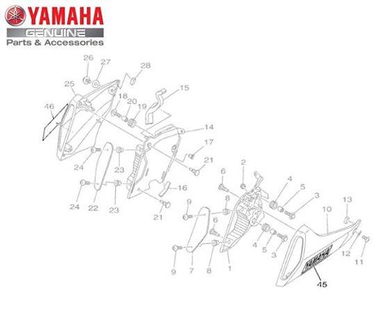 EMBLEMA 3D DA TOMADA DE AR ESQUERDA PARA MT-09 ORIGINAL-YAMAHA