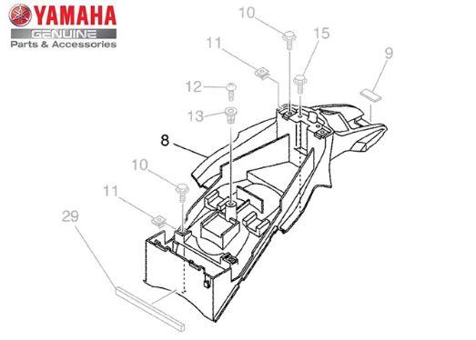 PARALAMA TRASEIRO XT660R ORIGINAL YAMAHA