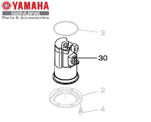 BOMBA DE COMBUSTIVEL COMPLETA PARA XT660R E MT-03 660CC 2008 ORIGINAL YAMAHA