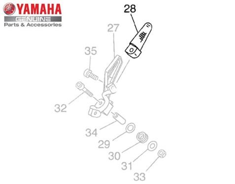ESTRIBO TRASEIRO DIREITO PARA YAMAHA XT-660 R ORIGINAL YAMAHA