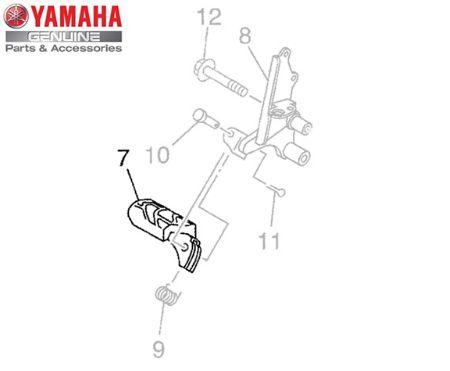 ESTRIBO DIANTEIRO DIREITO XT-660R ORIGINAL YAMAHA