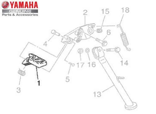 ESTRIBO DIANTEIRO ESQUERDO XT-660R ORIGINAL YAMAHA