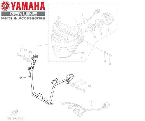 SUPORTE DO FAROL DIANTEIRO PARA XT660R ORIGINAL YAMAHA