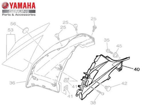 TAMPA LATERAL DIREITA PARA XTZ150 CROSSER 2015 A 2022 ORIGINAL YAMAHA
