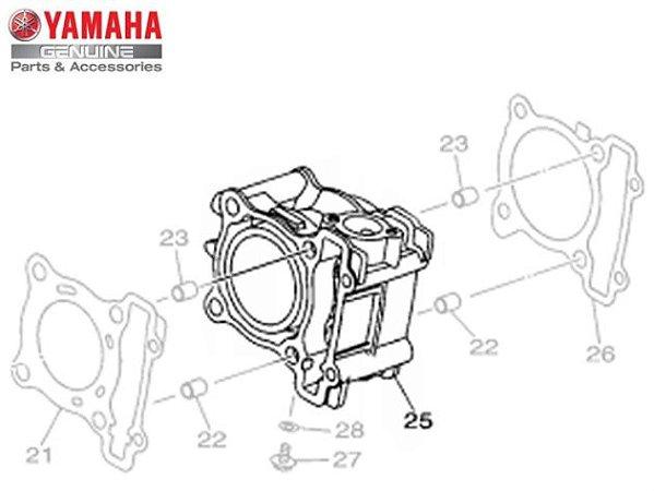 CILINDRO DO MOTOR PARA NMAX 160 ORIGINAL YAMAHA